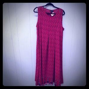 REBORN Burgandy flowered Dress.
